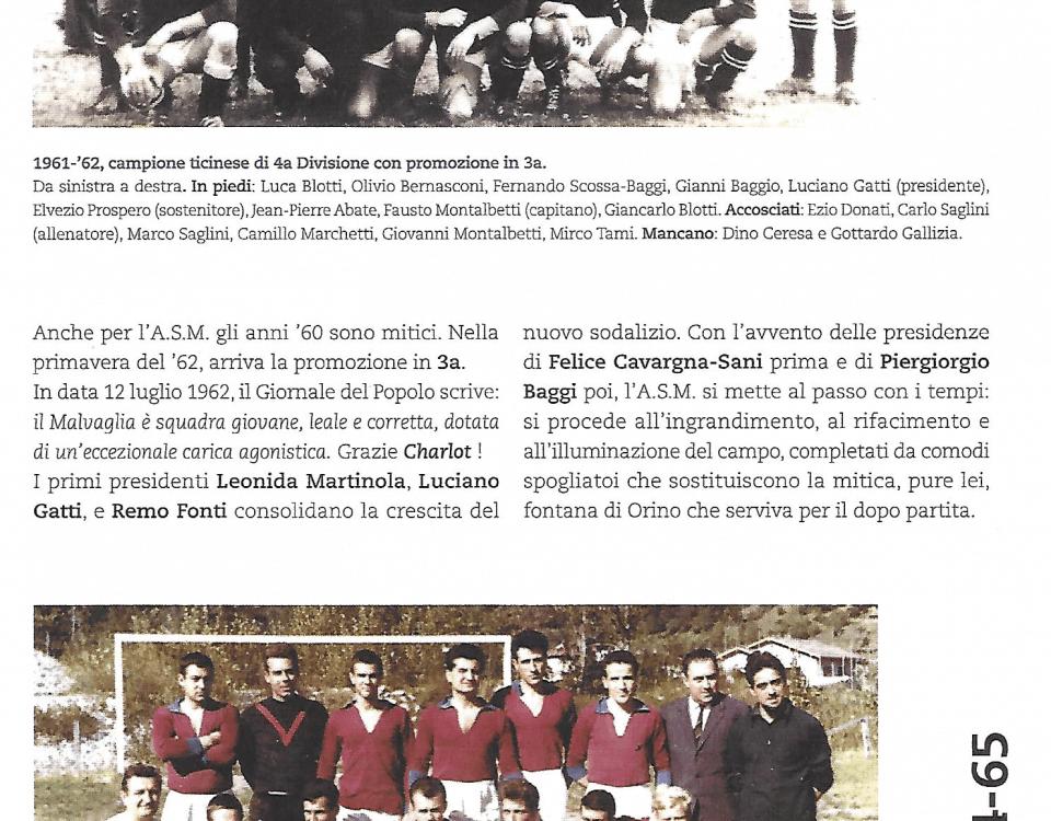 AS Calcio Malvaglia, 1962