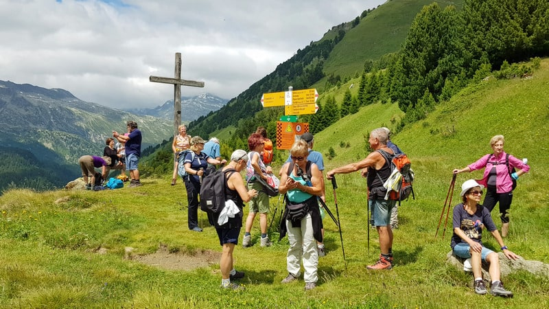 Il gruppo a Cros Portera (Croce Portera)